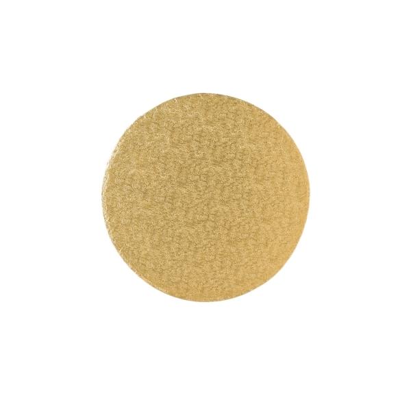 123 5 Runde Tortenplatte Cakeboard Gold 25 Culpitt Matten / Bleche Tortenplatte / Cakeboard rund 25,4cm, gold