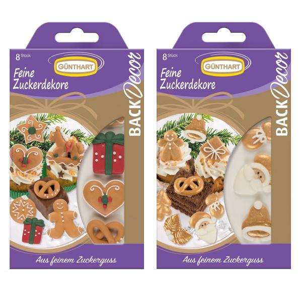 1353 Set Zuckerdekore Weihnachten Günthart Weihnachten BackDecor Zuckerdekore Weihnachten