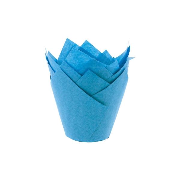 210 3 Blau Tulpen Muffinfoermchen Culpitt Backwelt Aloha 36 Tulpenmuffinförmchen, blau