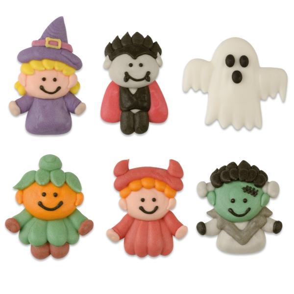 2846 Halloween Figuren Zucker Günthart Tiere Günthart 12 Halloween Figuren aus ZuckerVerschiedene Halloween Figuren Motive