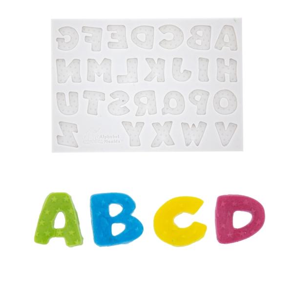 345 11 Alphabet Buchstaben Sterne Silikonformform Fondant Alphabet Moulds Prägewerkzeuge / Veiner 1 Alphabet Moulds Silikon Fondantform Buchstaben / Sterne