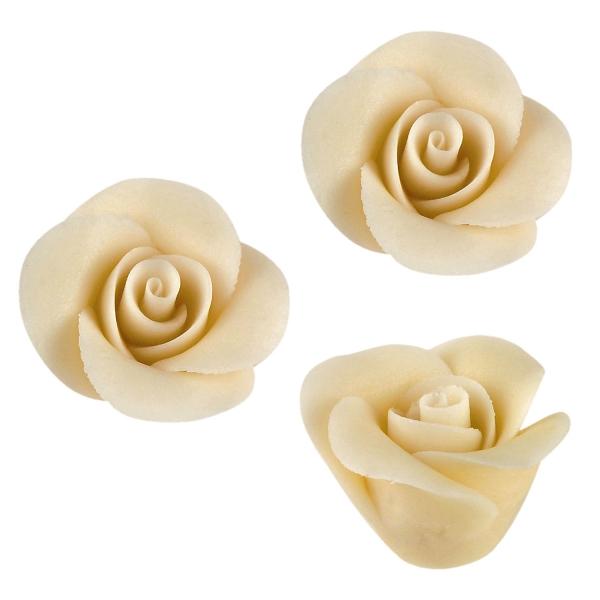 48 Kleine Weisse Marzipan Rosen Tortendeko 2171 Günthart Valentinstag & Liebe Günthart 48 Rosen weiß, klein aus Marzipan