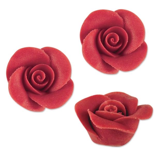 48 Marzipan Rosen Klein Rot Tortendeko 2172 Günthart Muttertag Günthart 48 Rosen rot, klein aus Marzipan