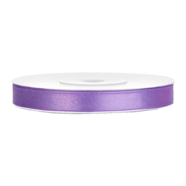 501 1003 Lila Satinband Duenn 6mm partydeco Unifarbene Bänder Satinband lila B:6mm, L:25m