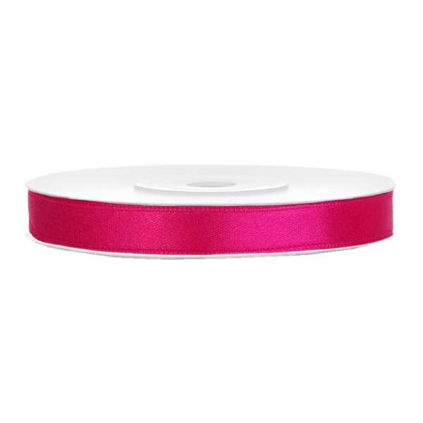 501 1006 Magenta Pink Satinband Duenn 6mm partydeco Partydeco.pl Satinband magenta B:6mm, L:25 m