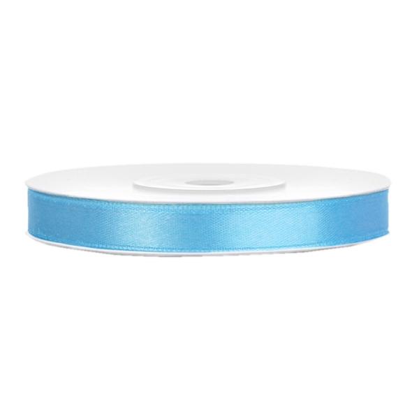 501 1010 Hellblau Satinband Duenn 6mm partydeco Unifarbene Bänder Satinband hellblau B:6mm, L:25m