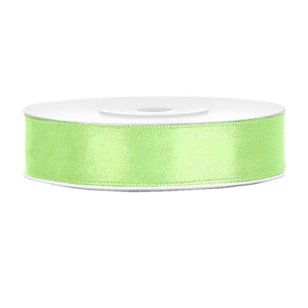 501 34 Satinband Pistaziengruen Basteln Deko partydeco Unifarbene Bänder Satinband pistaziengrün B:12mm, L:25 m