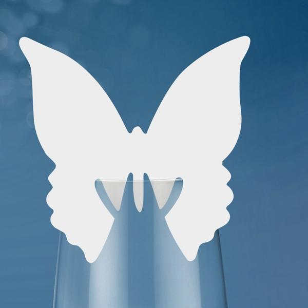 505 29 Schmetterling Glasdeko Partydeco Etiketten & Anhänger 10 Schmetterling Papierdekoration