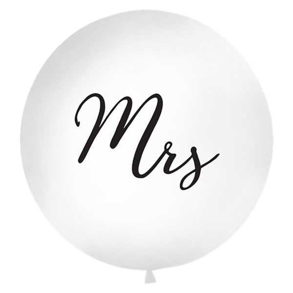 506 2 partydeco Partydeco.pl 1 XXL Luftballon, 1m , weiß, Mrs.