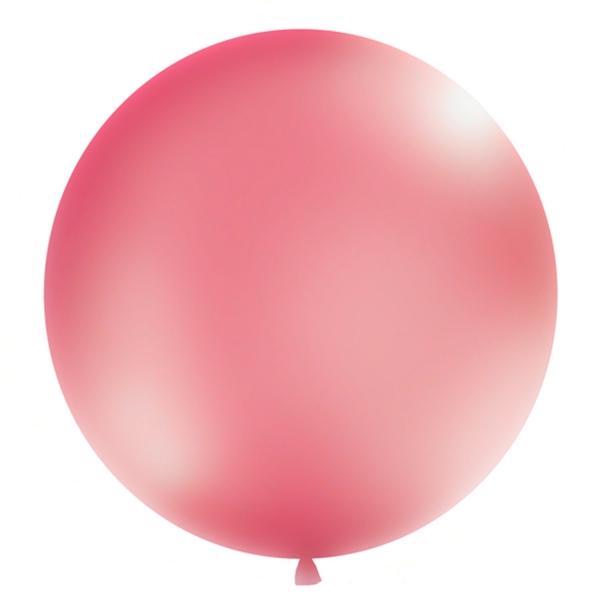 506 321luftballongrossmetallicpink partydeco Luftballons 1 Luftballon, groß, metallic pinkRiesen-Luftballon-Helium-Ballon-Balloons-Luftbalon-Metallic-Pink
