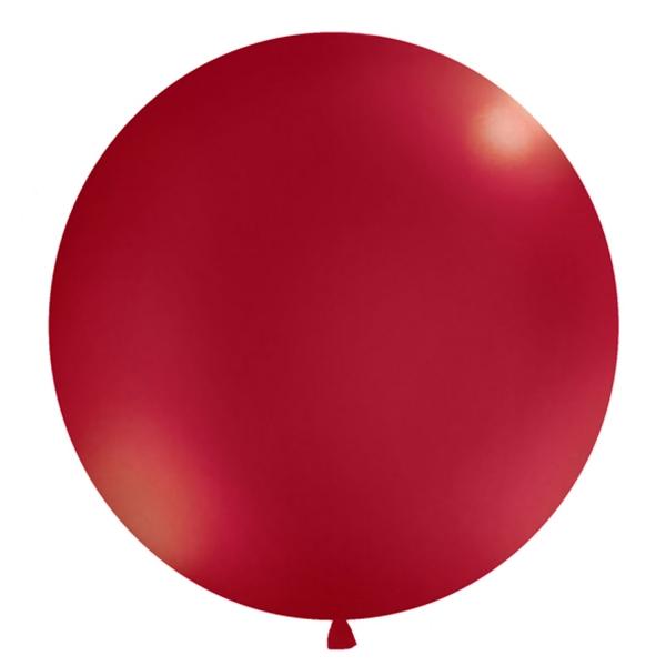 506 391luftballongrossmetallicdunkelrot partydeco Luftballons 1 Luftballon, groß, metallic dunkelrotRiesen-Luftballon-Helium-Ballon-Balloons-Luftbalon-Metallic-Dunkelrot