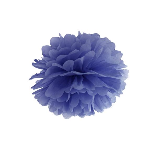 508 24 partydeco PomPoms / Wabenbälle 1 Seidenpapier Pompom, dunkelblau, 35cm