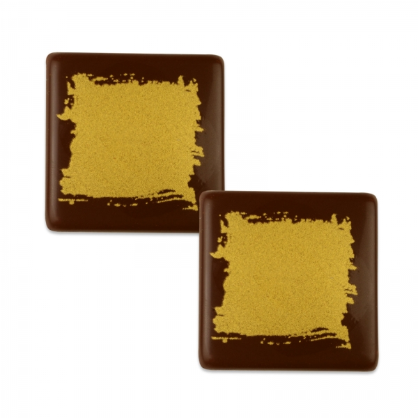 5153 Günthart Tortendeko Günthart 105 Quadrate gold aus Schokolade