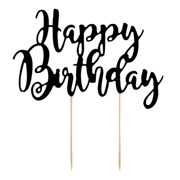 517 9 Happy Birthday Cake Topper Schwarz partydeco Geburtstag Cake topper Happy Birthday