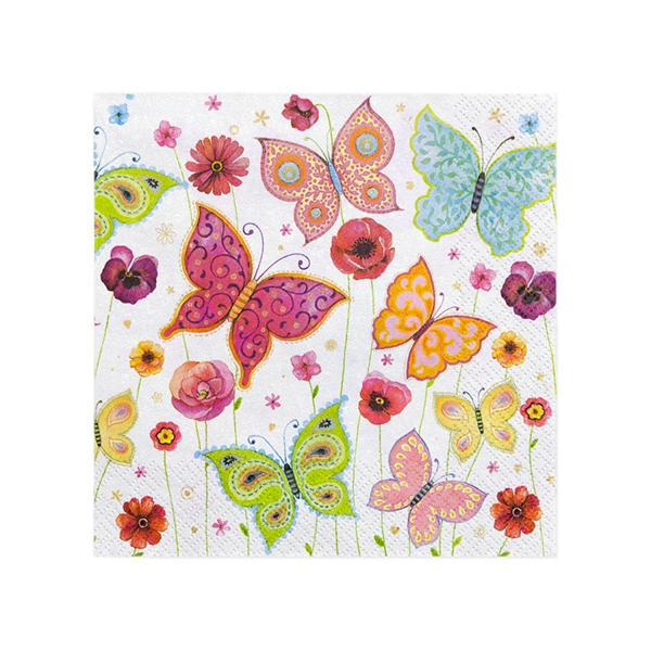 534 1 Papier Servietten Schmetterlinge partydeco Backwelt Sonne | Meer 20 Servietten Schmetterlinge
