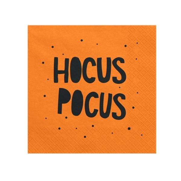 534 30 Papier Servietten Hokuspokus Halloween partydeco Partydeco.pl 20 Servietten orange, Hocus Pocus