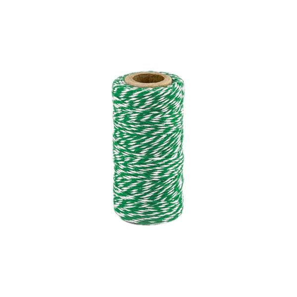 537 3 Baeckergarn Baumwolle Gruen partydeco Geschenktüten & Verpackungen 50m Bäckergarn / Bakers Twine, grün weiß