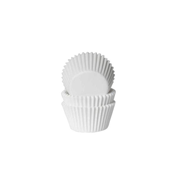 584 10 House of Marie Muffinförmchen Mini Muffinförmchen, weiß