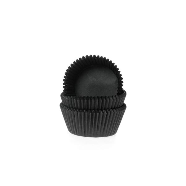 598 10 House of Marie Muffinförmchen Mini Muffinförmchen, schwarz