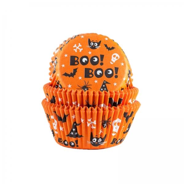 600 Halloween Muffinfoermchen Orange Hexe Katze House of Marie Halloween 50 Muffinförmchen Halloween