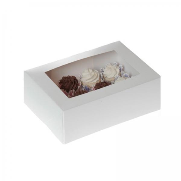 684 Mini Cupcake Box Weiss House of Marie Muffinförmchen 12er Mini Cupcake Box, weiss