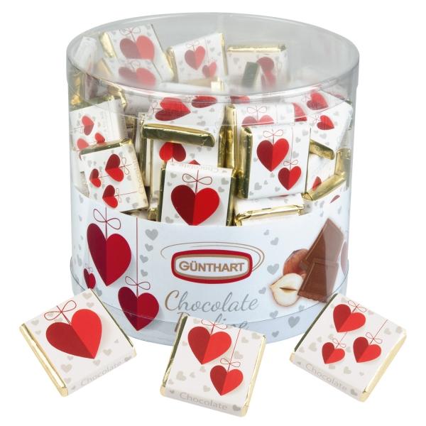 7045 18 Günthart 135 Schokolade Napolitains - Rote Herzen