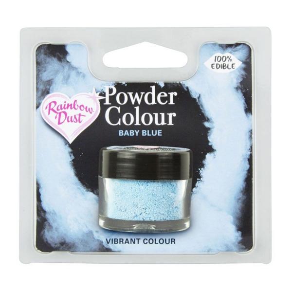 733 7 Rainbow Dust Rainbow Dust Lebensmittelfarbe Puder Himmelblau / Sky Blue