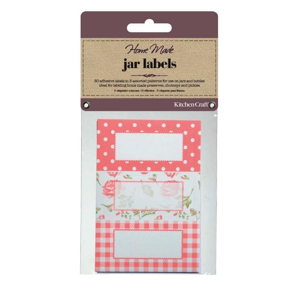 794 1230etikettenrosa KitchenCraft Etiketten & Anhänger 30 Etiketten, rosa