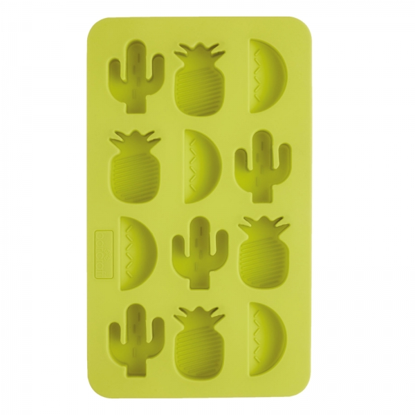 866 KitchenCraft Party Geschirr Silikon Eiswürfel Form - Ananas - Wassermelone - Kaktus