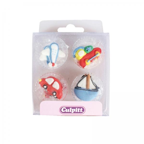 Auto Flugzeug Zug Segel Boot Culpitt 120 32 Culpitt Culpitt Culpitt 12 Transportfiguren aus Zucker