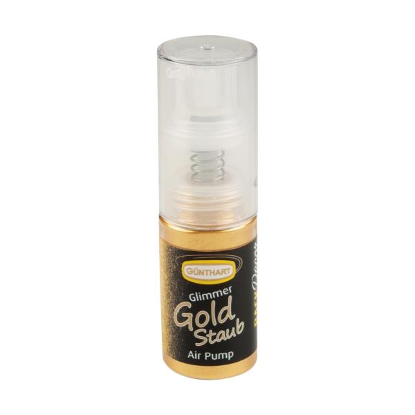 Backdecor Gold Glimmer Essbar Pumpspray 1449 Günthart BackDecor BackDecor Pumpspray Glimmer gold Staub, 10g