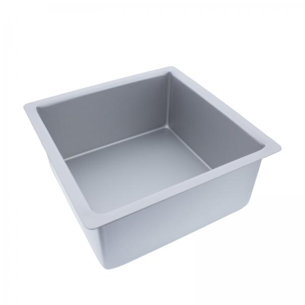Backform Aluminium Quadratisch Mittelgross Decora Decora Backform quadratisch 20x20cm   Höhe 10cm aus Aluminium
