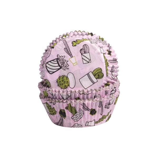 DEM 210 A Muffinfoermchen Rosa Kaktus Demmler Muffinförmchen 60 Muffinförmchen rosa, Kaktus, 5 x 2,5cm