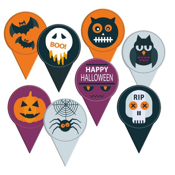 Halloween Einstecker Spinne Kuerbis Fledermaus2803 Günthart Halloween Günthart 120 Halloween Einstecker aus Karton
