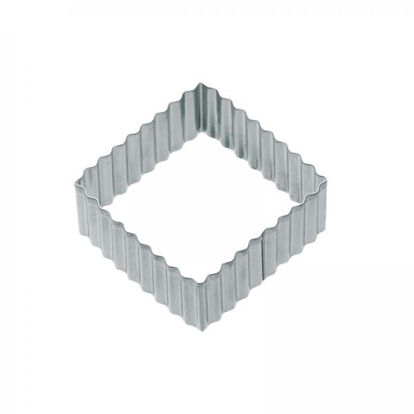 Keks Ausstecher Quadratisch Metall Gewellt KitchenCraft KitchenCraft 1 gewellter, quadratischer Keksausstecher, 6 cm