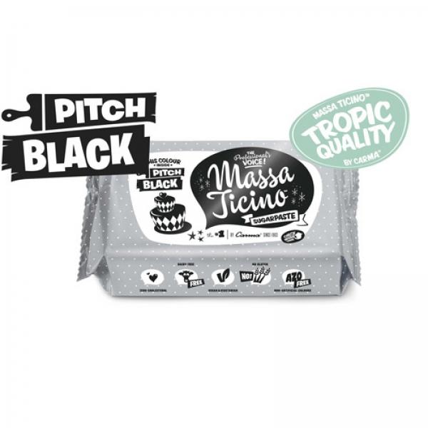 Massa Ticino Tropic Schwarz 115 3 Carma / Barry Callebaut Halloween Massa Ticino Tropic Pitch Black / schwarz 250g