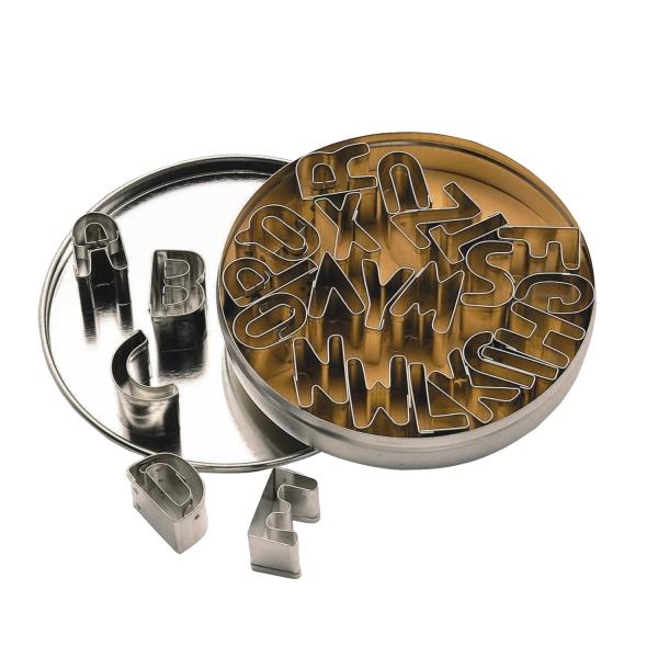Metall Buchstaben Ausstecher Set 863 1 KitchenCraft Keksausstecher 26 kleine Buchstaben-Keksausstecher aus Metall