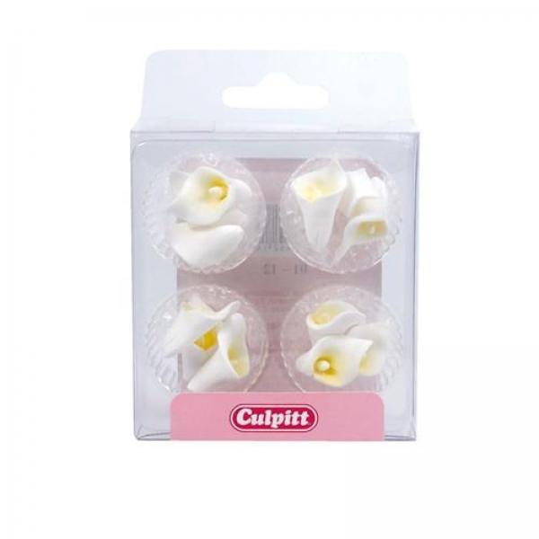 Mini Calla Blumen Tortendeko Zucker 120 16 Culpitt Frühling / Sommer Culpitt 12 Calla Blüten