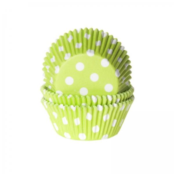 Muffinfoermchen Gepunktet Gruen Weiss 568 House of Marie Muffinförmchen Muffinförmchen, grün weiß gepunktet