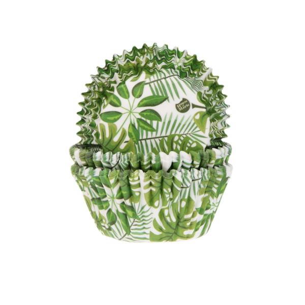 Muffinfoermchen Palme Monstera Aloha 547 9 House of Marie Backwelt Sonne   Meer 50 Muffinförmchen Blätter / Monstera / Palmen