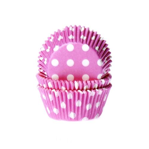 Muffinform Polka Dots Pink Weiss 573 House of Marie Backwelt Prinzessin Muffinförmchen, rosa weiß gepunktet