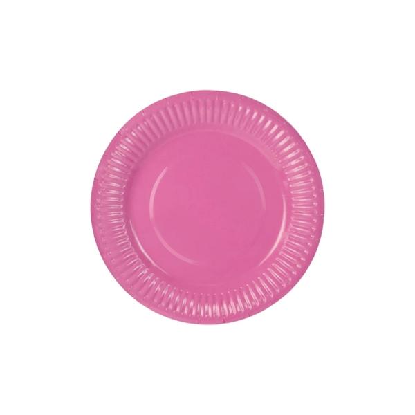 Pappteller Rosa Partyteller 507 71 partydeco Muttertag 6 Pappteller, rosa