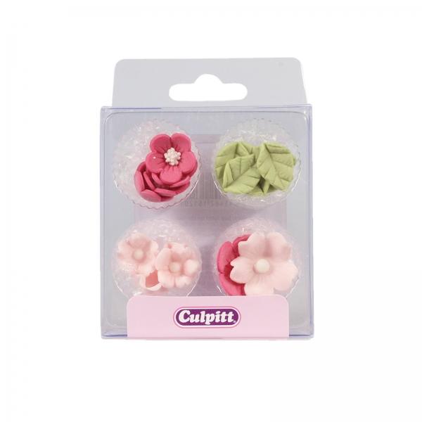 Pink Rosa Zucker Bluemchen Culpitt 120 8 Culpitt Blumen Culpitt 16 Zuckerblumen und Blätter, pink - rosa