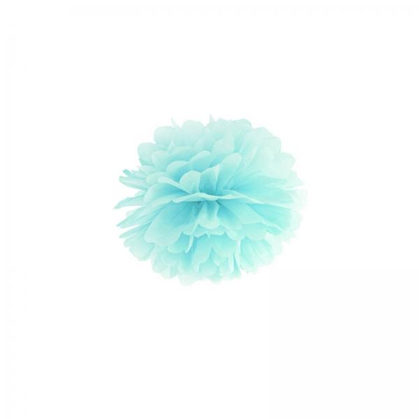 Pompom Hellblau Tuerkis Partydeko 508 11 partydeco Backwelt Sonne | Meer 1 Pompom, hellblau, 25cm