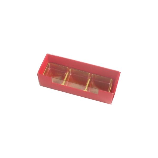 PRA 404 IDEE & WERK Geschenktüten & Verpackungen Pralinenstange 3er rot strukturiert