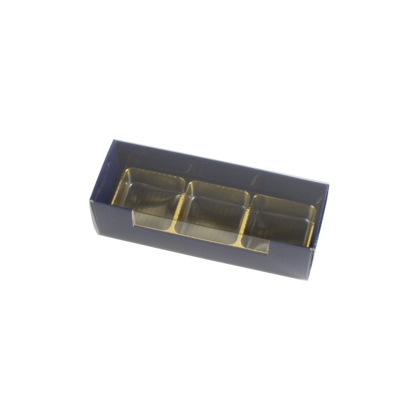 PRA 408 IDEE & WERK Geschenktüten & Verpackungen Pralinenstange 3er dunkelblau glänzend