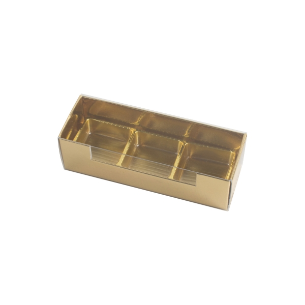PRA 414 IDEE & WERK Geschenktüten & Verpackungen Pralinenstange 3er gold glänzend