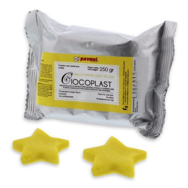 Schokoladen Fondant Gelb 356 Pavoni Italia Fondant / Rollfondant / Rohmassen Schokolade Fondant, gelb