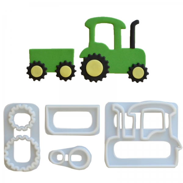 Traktor Bauernhof Ausstecher Fmm 241 7 FMM Sugarcraft Herbst 1 FMM Traktor Ausstecher-Set aus Kunststoff