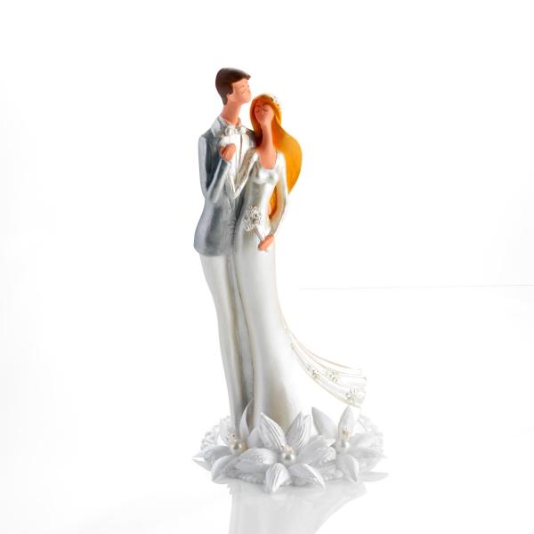 Weisse Brautpaar Figur Hochzeitstorte 2547 Günthart Hochzeitsfiguren Günthart große Brautpaarfigur